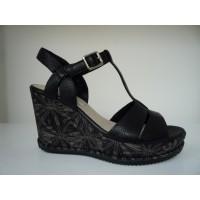 Clarks scarpe donna sandali zeppa 26123229 ADESHA RIVER NERO P17