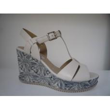 Clarks scarpe donna sandali zeppa 26123229 ADESHA RIVER bianco