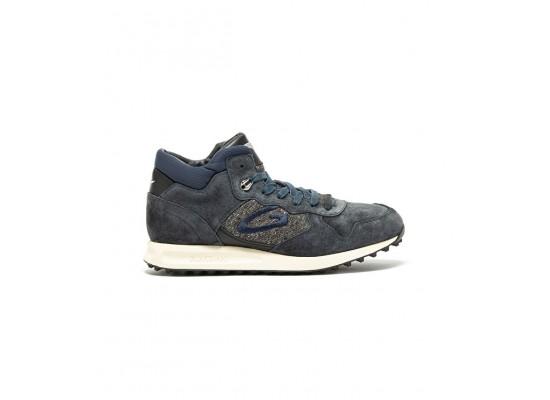 Scarpe sneakers uomo Alberto Guardiani Patwin blu in camoscio e tessuto