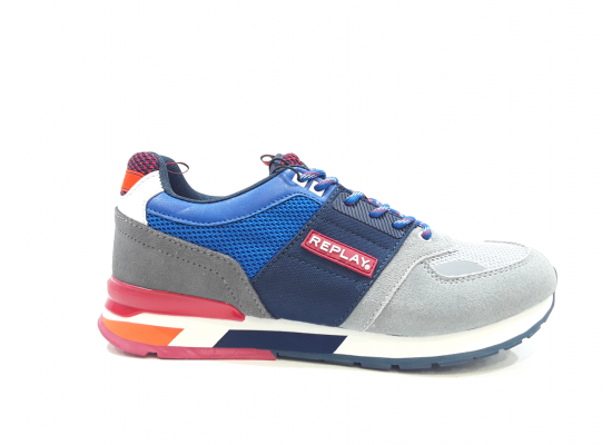 SNEAKER REPLAY RS1D0002L HUNTER 2352-LT GREY NAVY